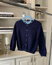 Petite Bateau Baby/toddler Gender Neutral Navy Button Up Sweater Size 36 Months