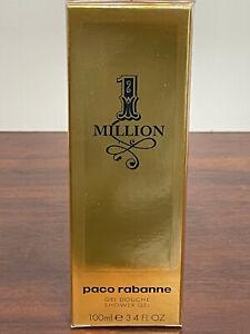 ONE MILLION By PACO RABANNE Shower Gel 3.4oz / 100ml NEW SEALED BOX