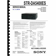 Sony STR-DA5400ES Stereo Receiver Service Manual (Pages: 218) 11x17 Drawings
