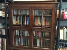 More details for oak glass fronted cabinet or bookcase