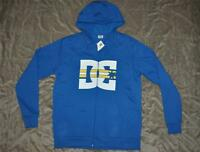 DC Shoes Co Mens Full Zip-Up Hoodie ADYFT00272 Blue See Sizes NWT