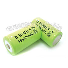 5 pcs D size 10000mAh 1.2V Ni-MH Rechargeable Battery LR20