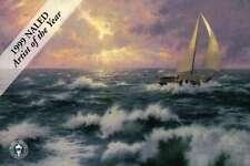 Perseverance - Sailboat, Ocean, Sun, Clouds  - Thomas Kinkade Dealer Postcard