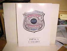 2001 Chevrolet/Chevy Police vehicle catalog/Impala/Camaro/cop car