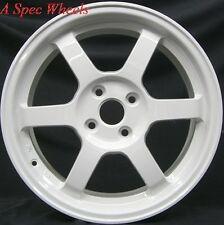 15X6.5 ROTA GRID WHEELS 4X100 WHITE RIMS FITS MIATA MX3 PROTEGE 323 MR2 ECHO