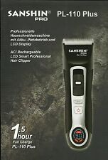Hair Clipper Sanshin MASTER PL-110 TURBO mit LiFePo4 Akku NEU