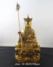 """Chinese bronze Ksitigarbha Bodhisattva statue 8""""High"""