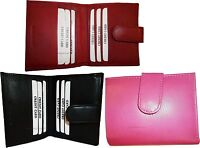 Lot of 3 New Ladies Leather Black/pink Red Wallet Card slots Bifold change purse