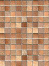 Klebefolie Fliesen Toscana braun Möbelfolie Mosaik 45 x 200 cm - Dekorfolie