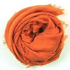 Women's Large Solid Cotton Blend Viscose Voile Lady Scarf Shawl Wrap 170cmx90cm