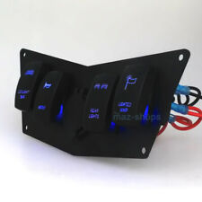 Blue 4 Gang Rocker Dash Laser Switch Panel For POLARIS Ranger RZR 800 900 570