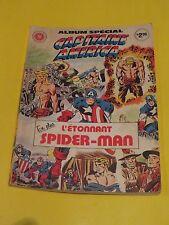 1980 SPIDER-MAN ORIGINS ALBUM CAPT AMERICA HÉRITAGE RARE FRENCH CANADIAN ISSUE