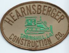 Hearnsberger Construction Co Springhill, LA driver/employee patch 3X4-1/4