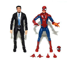 Marvel Legends Iron Man Tony Stark in Coulson Black Suit Pizza Spiderman Figure