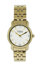 Caravelle by Bulova 44L113 Women's Clear Crystal Round Analog Gold Tone Watch