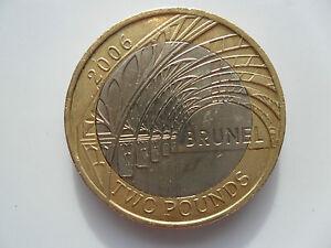 2006 £2 COIN UK TWO POUNDS ISAMBARD BRUNEL PADDINGTON RAILWAY STATION BIMETALLIC