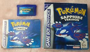 Pokemon Sapphire Version for GBA - AUS PAL Complete (CIB) with New Battery