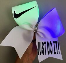 LIGHT UP Just Do It Swoosh Color Changing Light Up Cheer Bow Hair Bow Nike Cheer