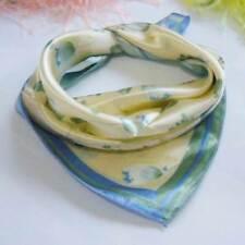 Water color flora Tulip Soft Neckerchief Shawl Head Bandanas Square Scarf Satin