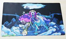 C1975 Free Mat Bag Pokemon Playmat Card Games Play Mat Raikou Suicune Entei