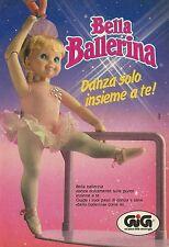 X4192 Bella Ballerina danza solo insieme a te - GIG - Pubblicità 1990 - Advertis