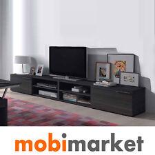 Bajo TV moderno de Salón de 260 cm. en color gris ceniza, Bajo TV de 260