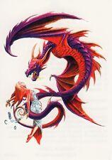Temporary Tattoo, Dragon Tattoo, AGD234 05-12, Drache mit Jungfrau