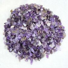 1000 x Amethyst Mini Chip Tumblestones 3mm-5mm A Grade Crystal Wholesale
