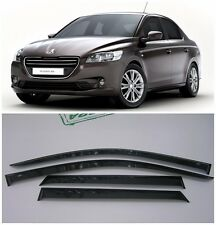 For Peugeot 301 Sd 2012-2018 Side Window Visors Sun Rain Guard Vent Deflectors