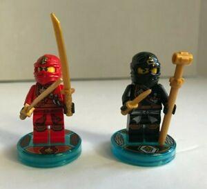 LEGO Dimensions NINJAGO Cole and Kai Figures with Tags - Team Pack Ninjago 71207