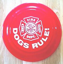 """""""FRISBEE"""" For Your Doggie!  FIRE DEPARTMENT MALTESE CROSS  DESIGN Red Flyer."""