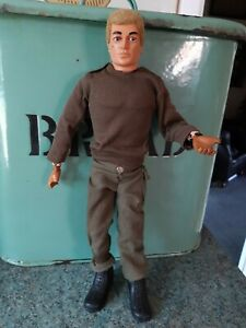 Vintage Action Man Blonde Hair Eagle Eyes Original Vintage