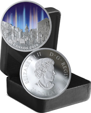2019 Light Pillars Sky Wonders $20 1OZ Pure Silver Proof Coin Canada Glow-Dark