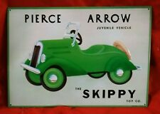 Pierce Arrow Juvenile Vehicle Skippy Toy Co Vintage Metal Sign 27+ years old