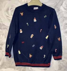 Girls Age 2-3 Years - Christmas Long Sleeved Fine Knit Jumper Top