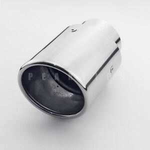 """2.5"""" Inlet 3.5"""" Rolled Out Slant Cut Round Stainless Steel Weld On Exhaust Tip"""