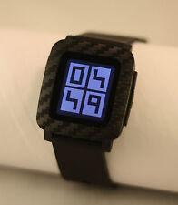 Pebble Time Watch Skin Sticker Vinyl Bezel Protector Carbon Fibre