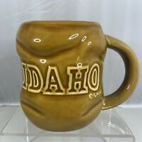 Vintage ? Idaho State Potato Shape Ceramic Stoneware Mug Cup Coffee Tea Novelty