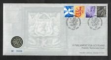 1999 A Parliament For Scotland £1 one pound coin philatelic numismatic cover.