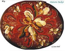 Oval Box Pattern Rosemaling Package *FREE SH* #1p