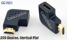 HDMI Male to Female Port Saver 270°, Vertical Flat