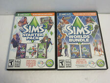 THE SIMS 3 WITH 4 EXPANSION PACKS WIN MAC PC DVD ROM WORLDS BUNDLE LATE NIGHT