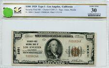 "FR1804-1 CH #2491.3 $100 1929 FRBN ""LOS ANGELES"" PCGS 30 VF (#66a DFP 7/18/20)"