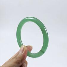 Jade Gems Bangle Bracelet Z1228 62mm Certified Grade Natural Green Dongling