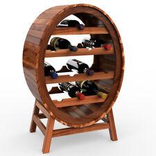 Casier étagère à vin en bois d'acacia Porte bouteilles Look baril tonneau