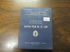 REGIA AERONAUTICA ISTRUZIONI MOTORE ALFA ROMEO 126 R. C. 34 ANNO 1937 (33)