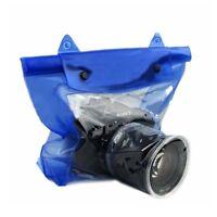 Blue Waterproof DSLR/SLR Camera Pouch Dry Fresh Bag Underwater Canon Nikon 20M