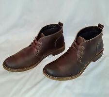 GBX Chukka Dark Brown Distressed Leather Lace Up Ankle-High Boots Men's Size 12M