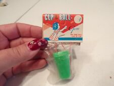 Vtg Novelty Toy Cup & Ball Game