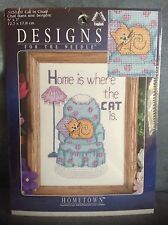 JANLYNN HOME IN WHERE THE CAT IS COUNTED CROSS STITCH SET - NEW IN PACKAGE
